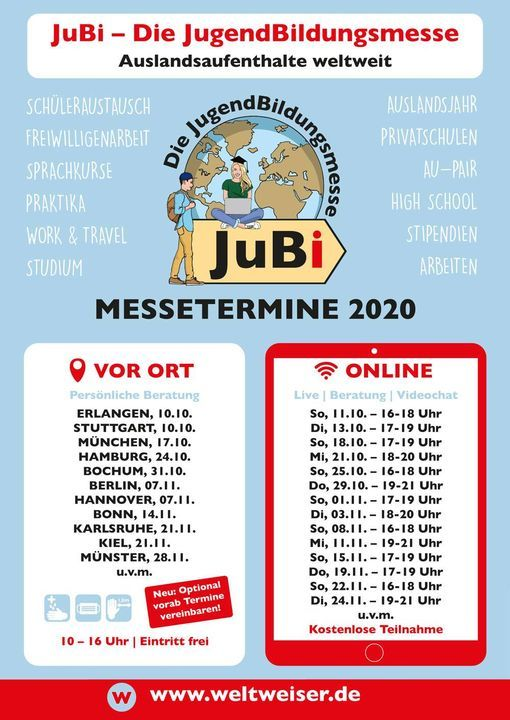 JuBi – Die Online-Messe, 18 November | Online Event | AllEvents.in
