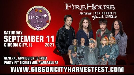 Firehouse & Jack Russell's Great White, 11 September   Event in Gibson City   AllEvents.in