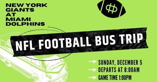 NFL Football Bus Trip: New York Giants at Miami Dolphins, 5 December | Event in Cape Coral | AllEvents.in