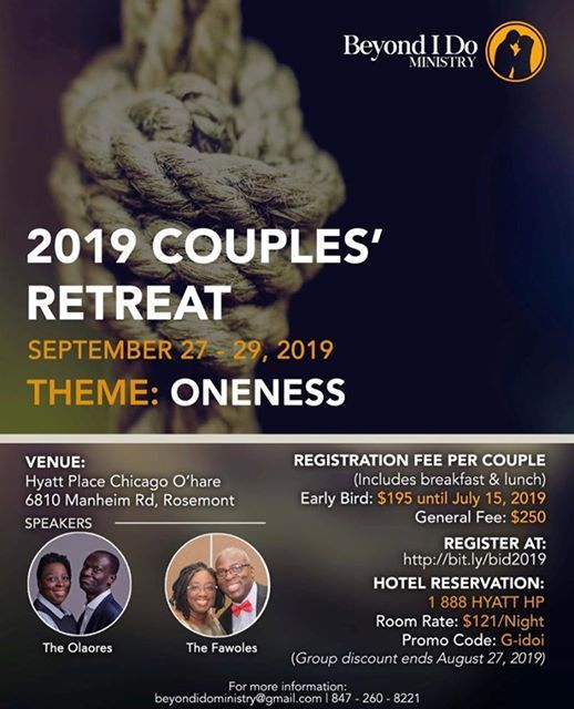 2019 Couples Retreat at Hyatt Place Chicago/O'hare Airport, Des Plaines