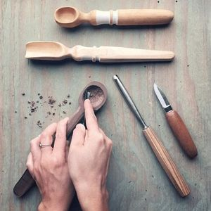 VIRTUAL Hand-Carved Scoops  Spoons Workshop (Kit Included)