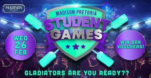 Student Games - Gladiator & R2 Drinks