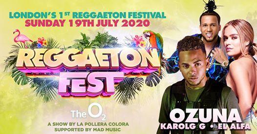 Cancelled  Reggaeton Fest at The O2 Arena