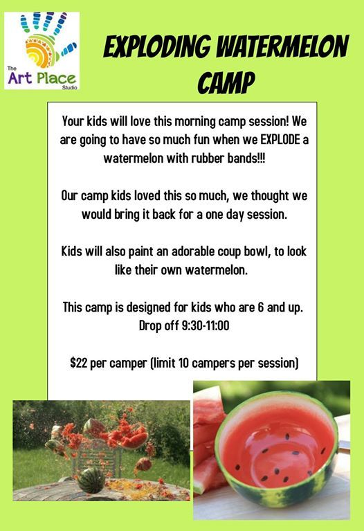 Exploding Watermelon and Pottery Painting Camp at The ART