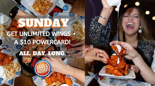 All You Can Eat Wings at Dave & Busters
