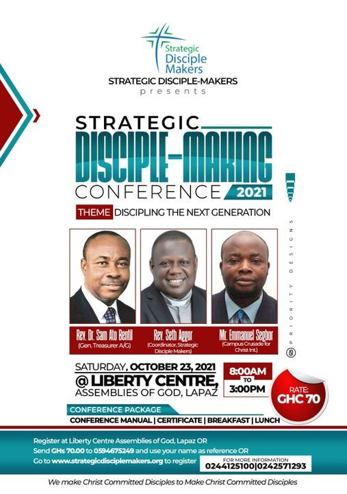 Strategic Disciple-Making Conference 2021, 23 October   Event in Accra   AllEvents.in