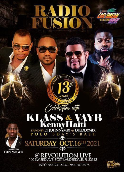 Radio FusionLive 13TH Anniversary Klass Vayb Kenny | Event in Fort Lauderdale | AllEvents.in