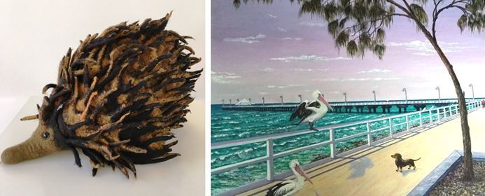 Free Artist Demonstrations Felt and Oil Painting