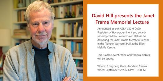 David Hill presents the Janet Frame Memorial Lecture