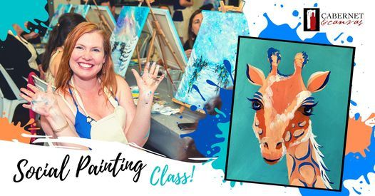 Paint & Sip Event: Gerald the Giraffe, 29 April | Event in Baskerville | AllEvents.in