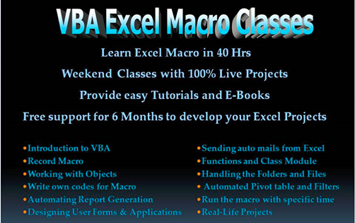 VBA Excel Macro & Website Automation | Chennai