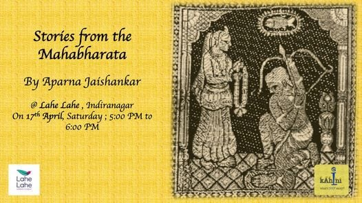 Stories from the Mahabharata, 15 May | Event in Bangalore | AllEvents.in