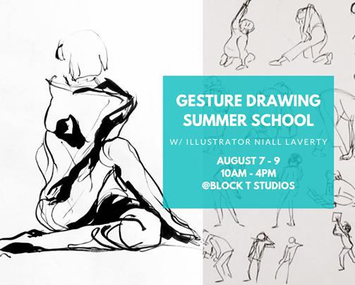 Gesture Drawing Summer School w/ Illustrator Niall Laverty