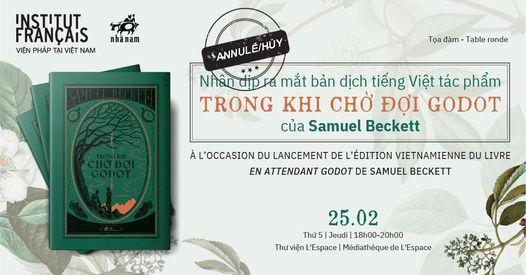 """Tọa đàm: Ra mắt bản dịch tiếng việt tác phẩm """"Trong khi chờ đợi Godot"""" của Samuel Beckett"""