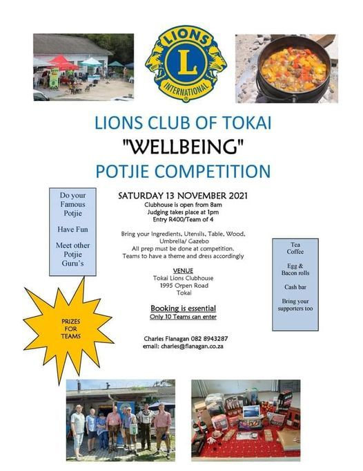 Wellbeing Potjie Competition, 13 November   Event in Cape Town   AllEvents.in