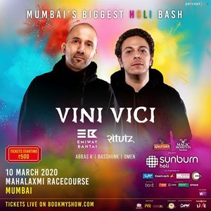 Sunburn Holi with Vini Vici - Mumbai