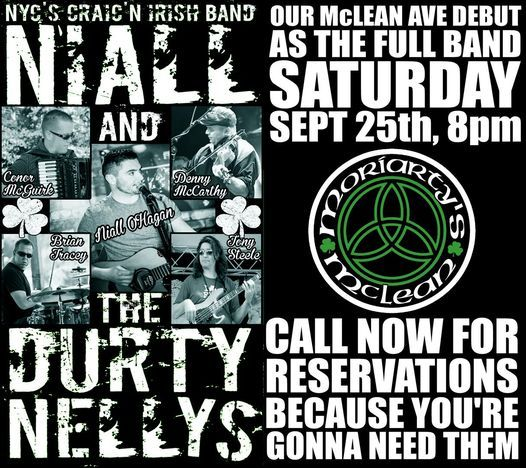 The Durty Nellys return to Moriarty's - FULL BAND DEBUT on McLEAN AVE   Event in Yonkers   AllEvents.in