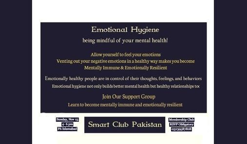 Practice & Maintain Emotional Hygiene, 25 December   Event in Islamabad   AllEvents.in