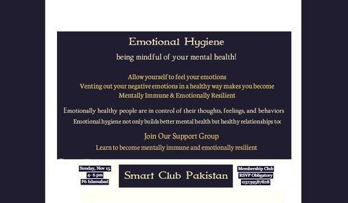 Practice & Maintain Emotional Hygiene, 25 December | Event in Islamabad | AllEvents.in
