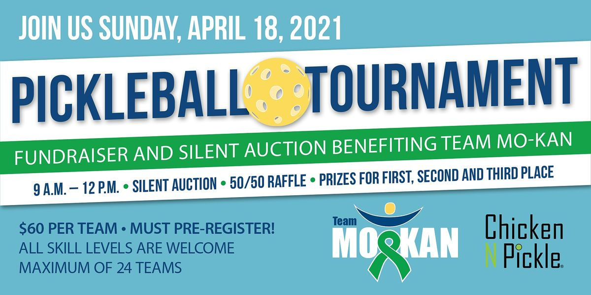 Pickleball Tournament and Silent Auction Fundaiser  benefitting Team MO-KAN, 18 April | Event in North Kansas City