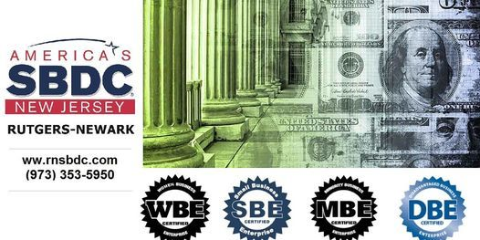 NJ State Certifications & Private Contracting Workshop (Virtual) / RNSBDC, 22 April | Event in Newark