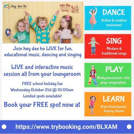 Hey Dee Ho Free Live Online Music Program | Online Event | AllEvents.in