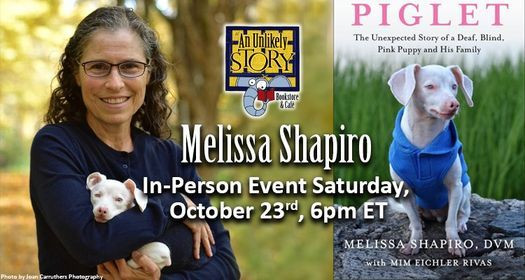Melissa Shapiro & Piglet In-Person Event, 23 October   Event in Plainville   AllEvents.in