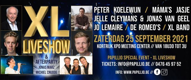 Papillio Special Event - XL Liveshow, 25 September | Event in Kortrijk | AllEvents.in