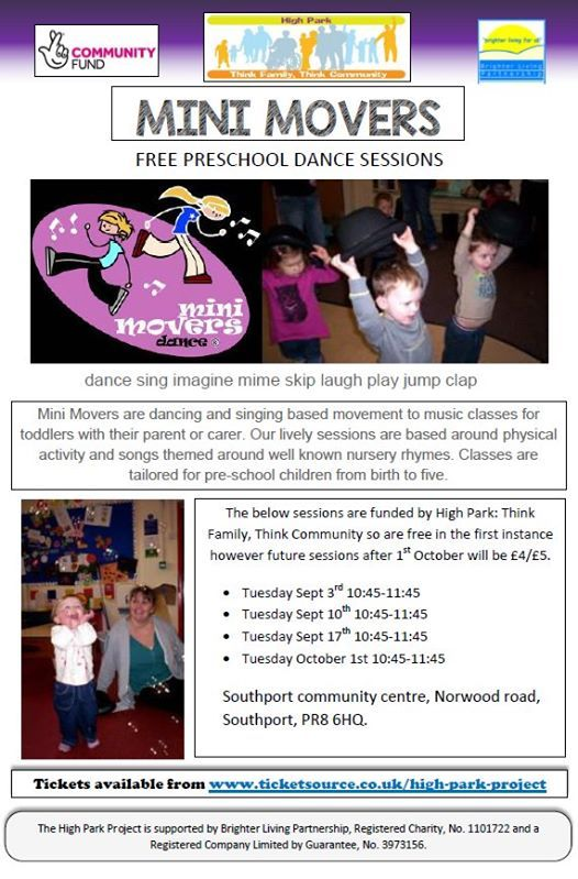 Mini Movers Dance Sessions At Southport Community Centre