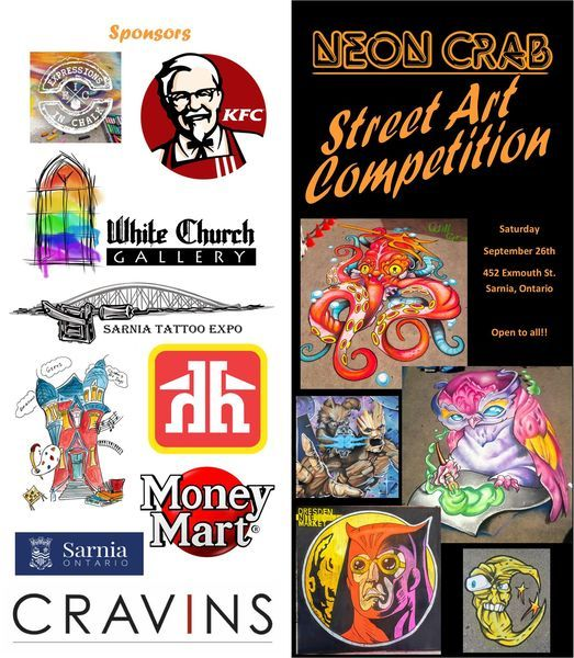 The Neon Crab Street Art Competition
