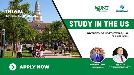 Live Discussion : University of North Texas, USA, Sunway ...