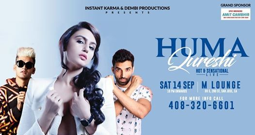 Party with Sensational HUMA Qureshi along with Gully BOYS DJ