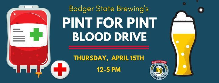 Badger State Pint for Pint Blood Drive, 15 April   Event in Green Bay   AllEvents.in