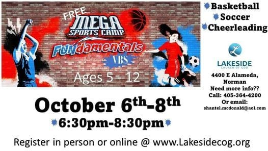 Mega Sports Camp VBS, 6 October   Event in Norman   AllEvents.in