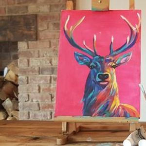 Bright Stag Painting  workshop & Afternoon Tea Sunnybanks