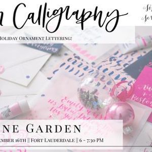 Modern Calligraphy & Holiday Ornaments at Wine Garden