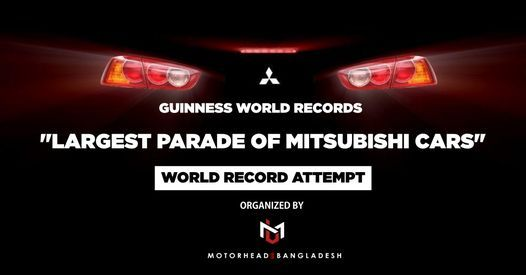 """""""Largest Parade of Mitsubishi Cars"""" - World Record Attempt, 2 July 