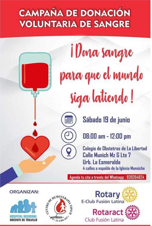 Campaña de Donación Voluntaria de Sangre | Event in Trujillo | AllEvents.in