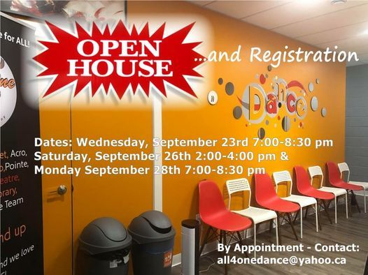 Open House & Registration - by Appointment