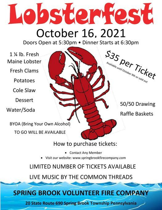 Lobsterfest 2021, 16 October | Event in Moosic | AllEvents.in