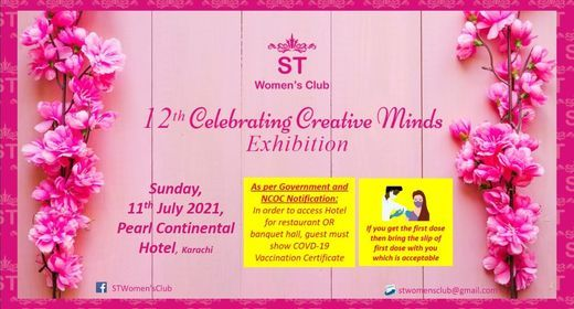 12th ST Celebrating Creative Minds Exhibition, 11 July   Event in Karachi   AllEvents.in