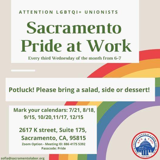 October Pride at Work Meeting, 20 October | Event in Sacramento | AllEvents.in