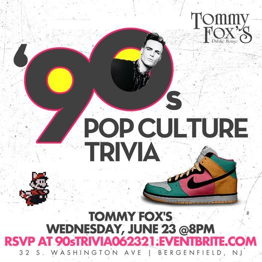 90s Pop Culture Trivia, 23 June   Event in Bergenfield   AllEvents.in