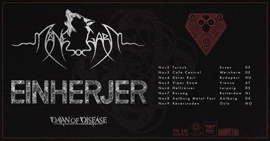 Manegarm & Einherjer European Fall Tour 2019