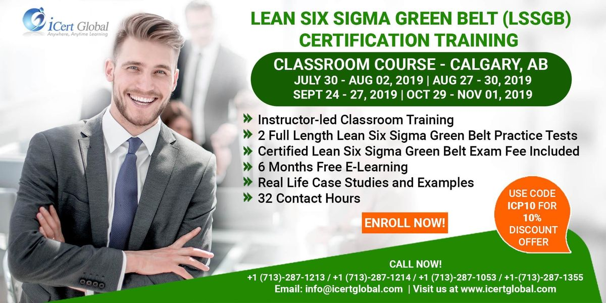 Lean Six Sigma Green Belt Certification Training Course in CalgaryAB.