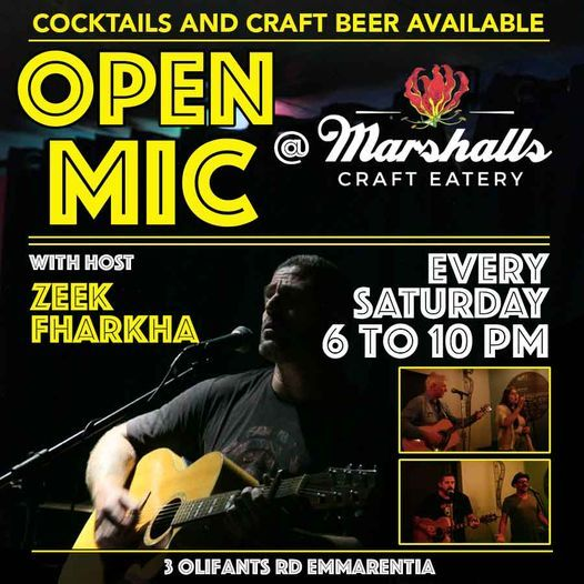 Open Mic Saturday Night, 1 May | Event in Randburg | AllEvents.in