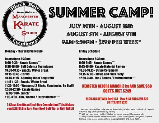 Summer Camp Week 1 of 2! at Manchester Karate Studio, Manchester
