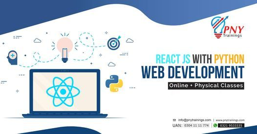 React JS with Python Web Development, 3 July | Event in Lahore | AllEvents.in