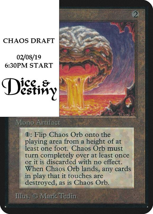 Chaos Draft at Dice & Destiny Tabletop Store, Canterbury
