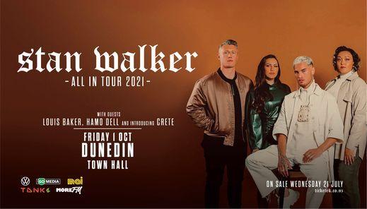Stan Walker - All In Tour, 1 October   Event in Dunedin   AllEvents.in
